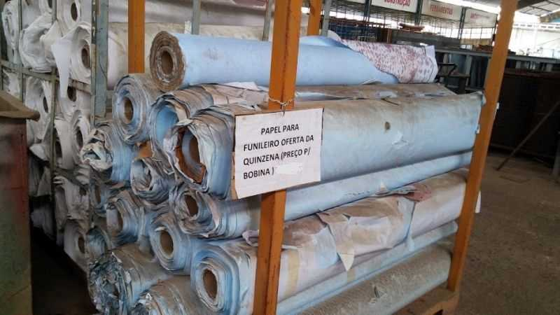 Boninas de papel de 1,60m x 0,20mm diametro